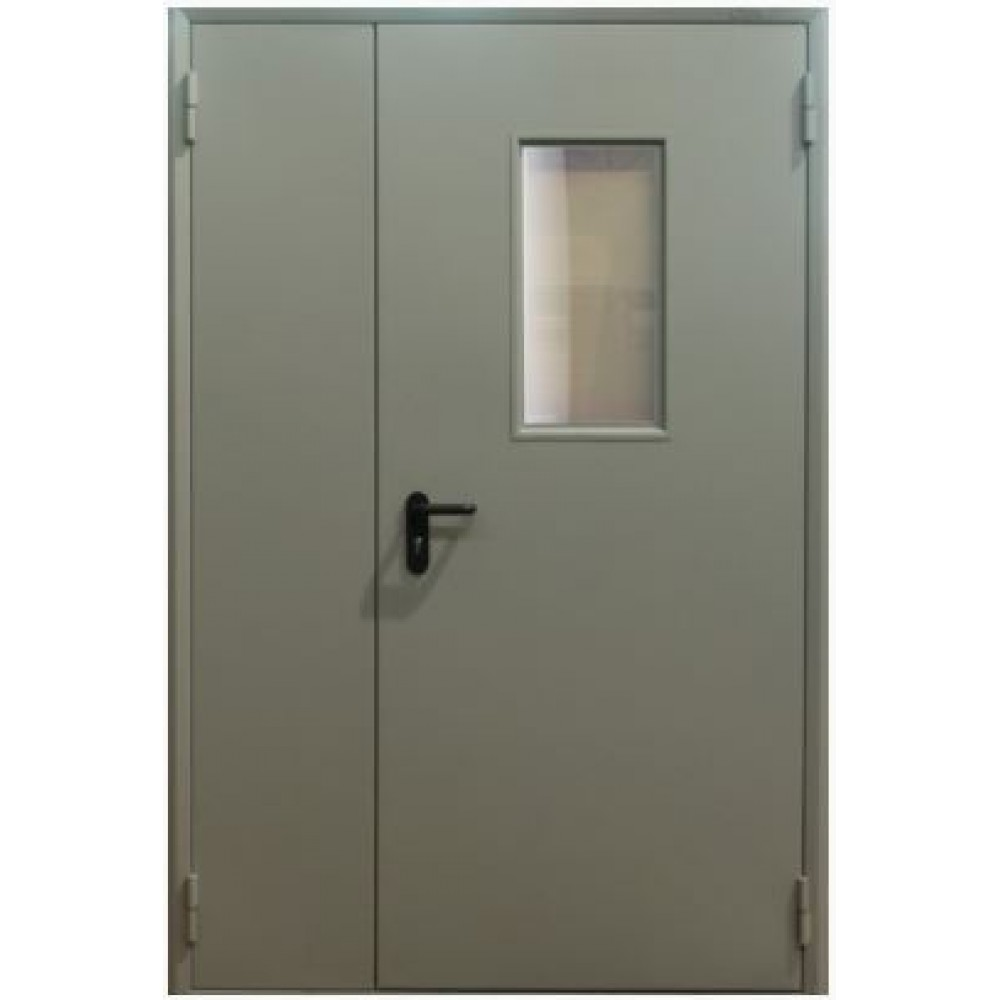 Двери противопожарные со стеклом  ЕІ30  2100*1400