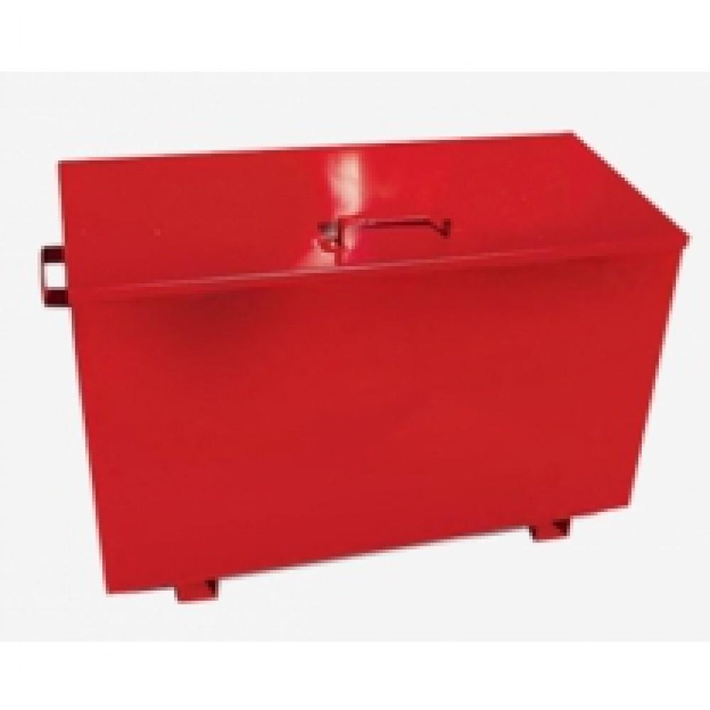 Стенд пожарный закрытого типа с перекидным ящиком для песка (с комплектацией)